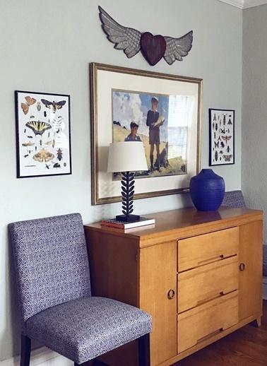 Warm Design Kalp ve Kanat Duvar Dekoru Renkli